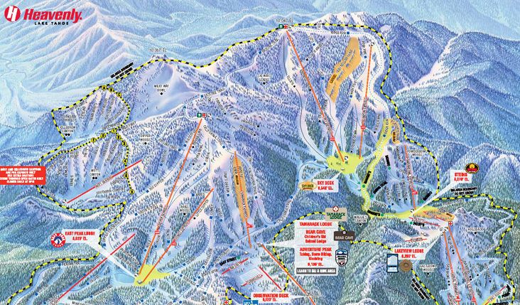 Mt Shasta Ca >> Trail maps, stats and directions for every California ski resort | California ski maps